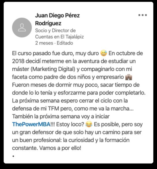 Juan Diego opinión